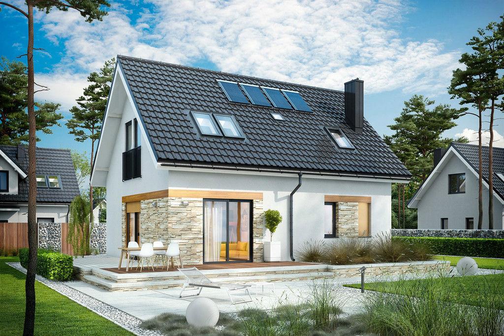 Строим дом с мансардой фото